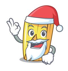 Santa tamale with corn leaf in cartoon vector