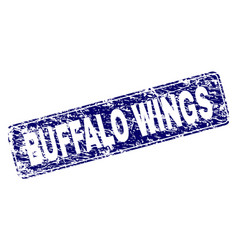 scratched buffalo wings framed rounded rectangle vector image
