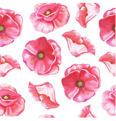 seamless pattern of flowers of tulips vector image