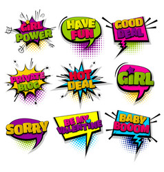 Set hand drawn effects comic speech bubbles vector