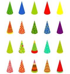 set happy birthday cap vector image