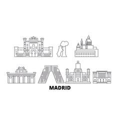 Spain madrid line travel skyline set spain vector