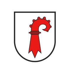 Switzerland swiss canton flag sign coat arms vector