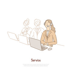 Technical support workers team assistant vector