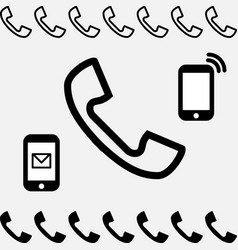 Telephone icon isolated vector