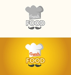 The logo of French food vector image