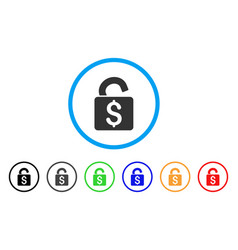 Unlock banking lock rounded icon vector