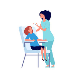 vaccination time children vaccinate doctor vector image