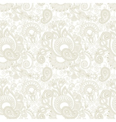 Vintage floral seamless paisley pattern vector