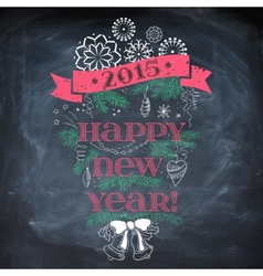 Vintage New Year background vector image