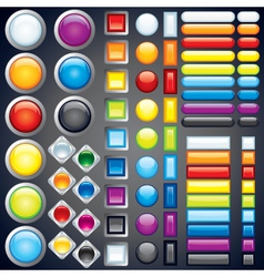 Web button templates vector