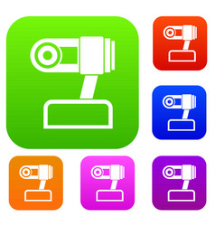 Webcam set collection vector