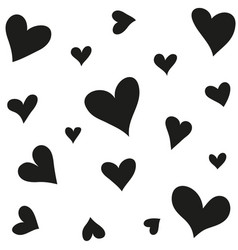 romantic hearts background vector image