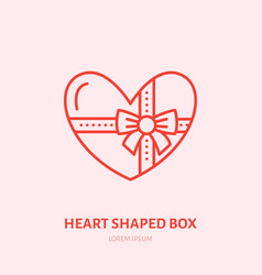 chocolate in heart shaped box sweets vector image