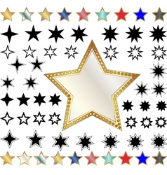 different stars vector image vector image