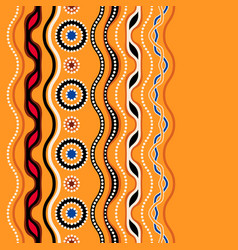 ethnic seamless pattern australian traditional vector image