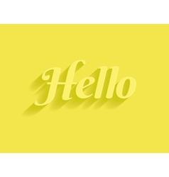 Hello message vector image