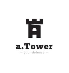 minimalistic negative space A letter logo vector image