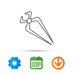 nippers icon repairing service tool sign vector image