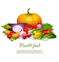 Vegetable Health Food Design Concept vector image