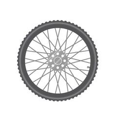 black metallic bicycle wheel vector image