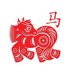 Horse Lunar symbol vector image