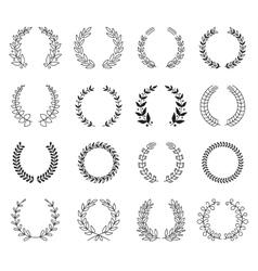 Laurel Wreaths Collection vector image