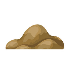 low brown sand mountaindifferent mountains single vector image