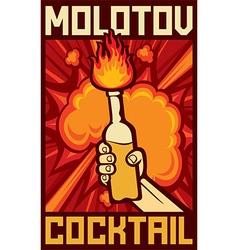 Molotov cocktail vector image vector image