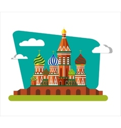 St Basils Cathedral in Russia vector image