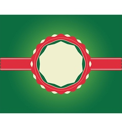 Christmas Greeting Card ribbon with copy space vector image vector image