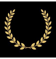 Gold laurel wreath 3 vector image vector image