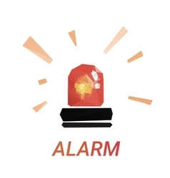 Lowpoly alarm glossy vector image vector image