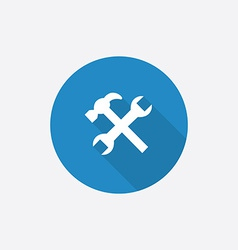 repair Flat Blue Simple Icon with long shadow vector image