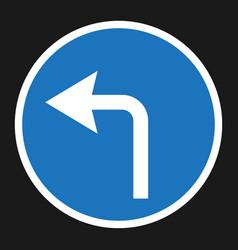 Turn left arrow sign flat icon vector