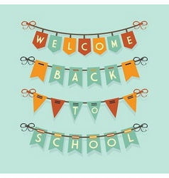 welcome back to school banners and buntings vector image vector image