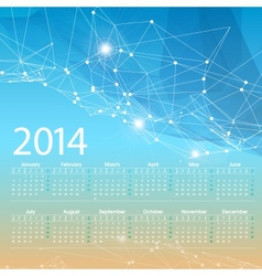2014 calendar grid design template vector image