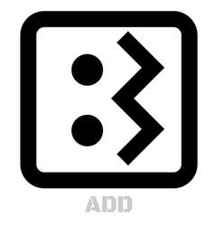 add conceptual graphic icon vector image