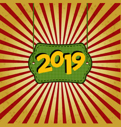 Advertising new year s poster template for your vector