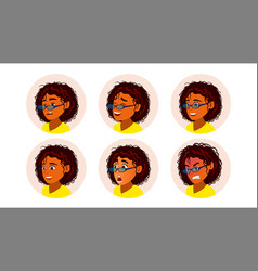 African black woman avatar vector