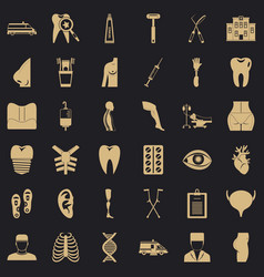 Apothecary icons set simple style vector