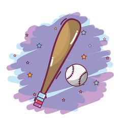 Baseball with ball play game vector