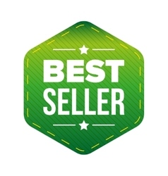 Best Seller green patch vector image