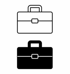 black and white suitcases vector image