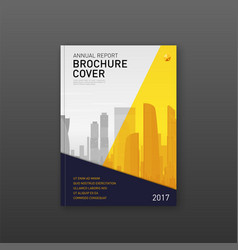 Brochure cover design template for finance company vector