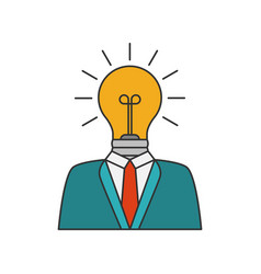 businessman with lightbulb vector image