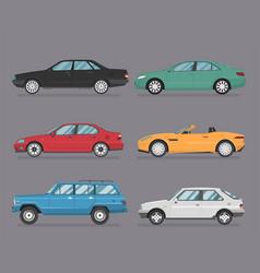 Cars set flat style vector