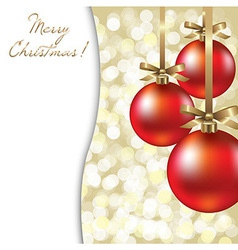 Christmas Card With Red Ball vector image