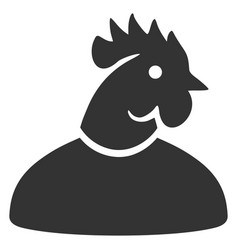 Cock man flat icon vector