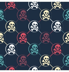 Colored Skull Pattern vector image